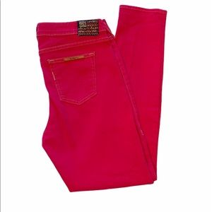 True Religion Halle Phantom Skinny Jeans Hot Pink
